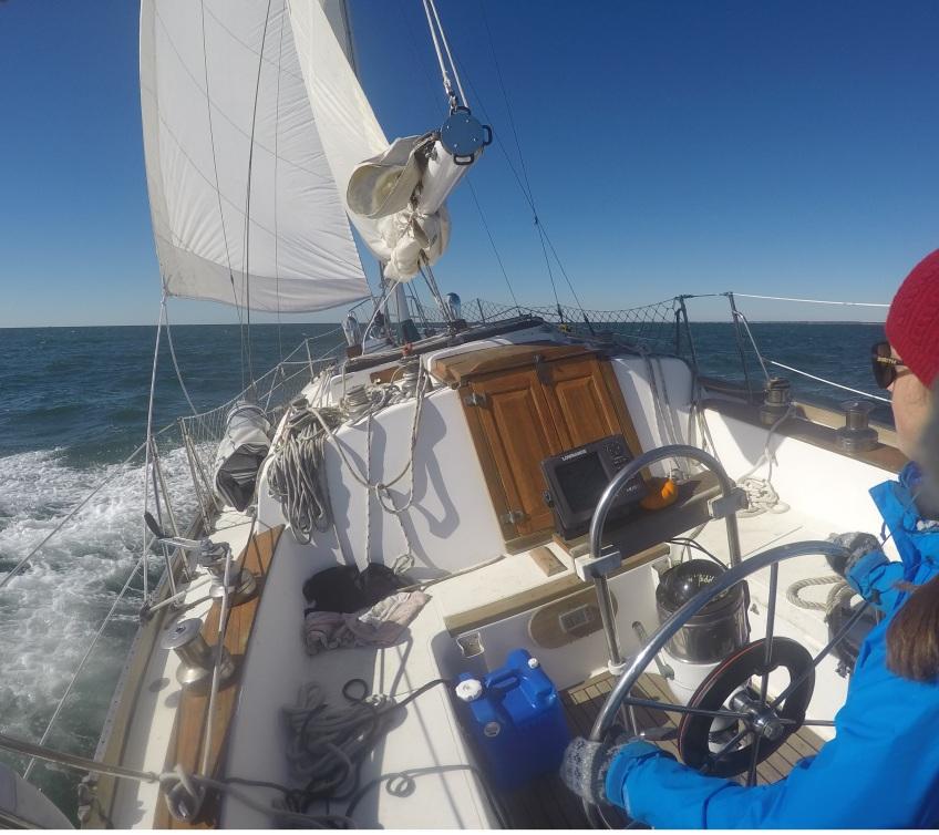 double reef main sail Gulfstar 37