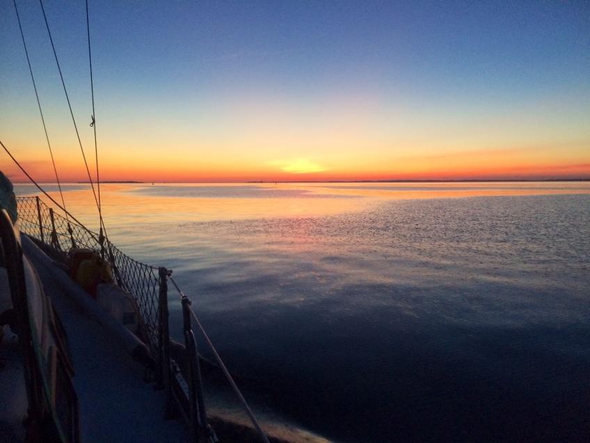 Chesapeake Bay sunset sailing