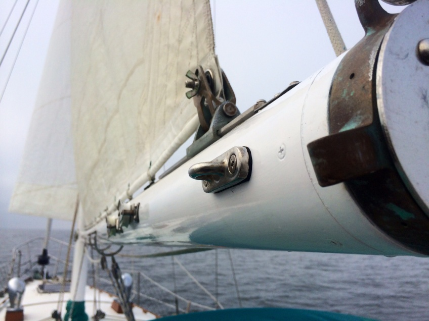 Gulfstar 37 sailboat boom