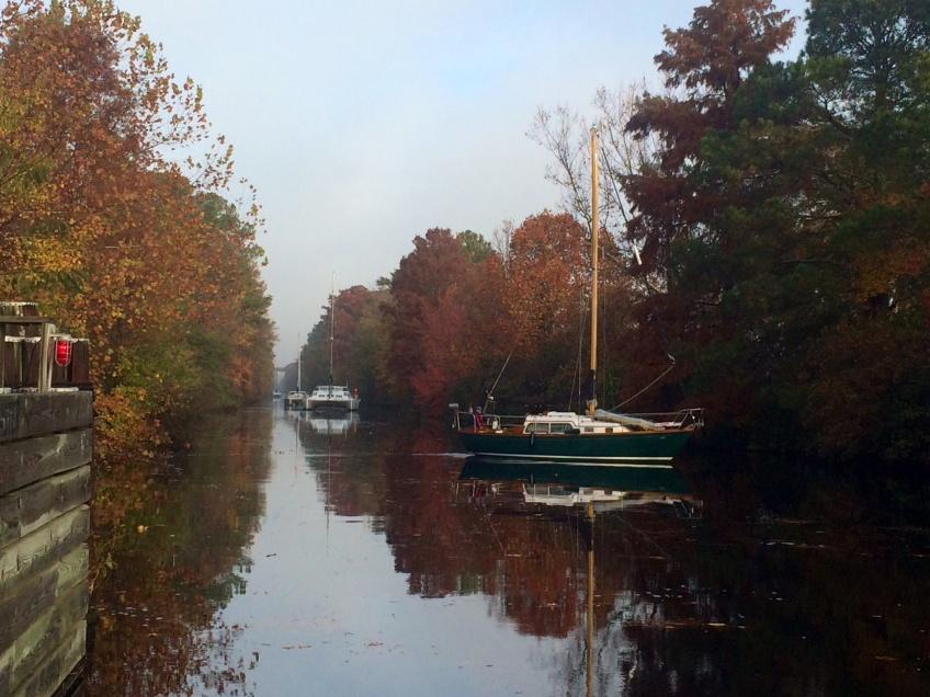 Dismal Swamp Canal sailboats