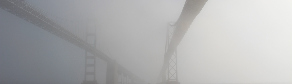 Annapolis bridges fog
