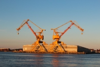 Norfolk shipyard cranes